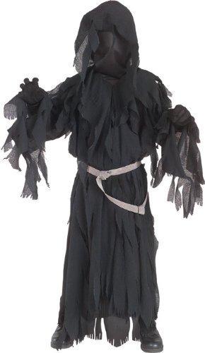 Herr der Ringe: Nazgul Ringwraith Kostüm Kinder schwarz, Größe: S - 122 (Ringwraith Kostüm Kind)