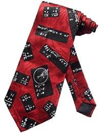 cravate équations mathématiques Steven Harris - Rouge - taille unique