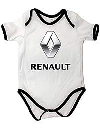 Cuerpo de bebé Unisex Renault Cuerpo del bebé Blanco Manga Corta bebé ...