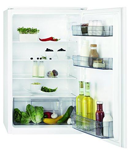 AEG SKB48811AS Kühlschrank / kleiner Kühlschrank ohne Gefrierfach / 142 l Kühlraum mit LED-Beleuchtung / Einbaukühlschrank mit Gemüseschublade / vollautomatisches Abtauen / A+ / H: 88 cm / weiß