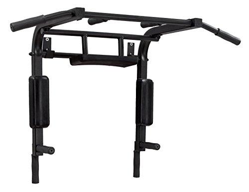 BK BenchK Multifunktions Einrichtung für Wandmontage Klimmzugstange für Pull Chin Dip und Sit-Up, Black, L