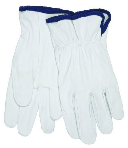 Ziegenleder-treiber Handschuhe (MCR Sicherheit 3601X L Premium Getreide Ziegenleder Treiber Handschuhe W gerade Daumen, weiß, XL (1Paar) von MCR Sicherheit)