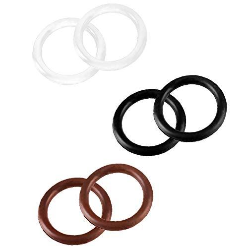 netproshop Sattel Zubehör Ersatz-Gummiringe für Sicherheitssteigbügel (1 Paar), Farbe:Schwarz