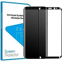 S8+ Protector de Pantalla, Protector Cristal Templado para Samsung Galaxy S8+ (6.2 Pulgadas) de Bordes Curvados 3D 9H HD Vidrio Templado [Anti-rasguños, Cubierta Completa]