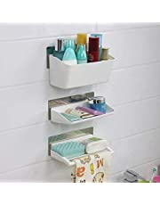 LXOICE ABS Plastic Bathroom Cosmetic Organizer/Accessories Shelves Storage Rack (Standard Size, Multicolour)