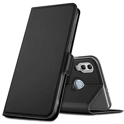 Geemai Cover per Honor 10 Lite,Custodia a Portafoglio in Pelle PU Premium Protezione di Lunga Durata,Compatibile per Honor 10 Lite Smartphone.(Nero)