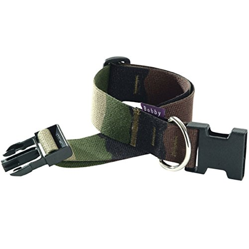 Bobby-Camouflage-Nylon-Dog-Collar-Small-Khaki