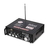 12V/ 220V Audio,Phomnd 12V/ 220V Mini 2CH LCD Display HIFI Audio Stereo Power BT FM Radio Portable Car Home 600W Remote Control Audio