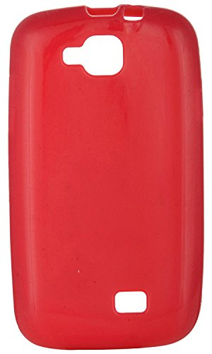 iCandy™ Colourful Thin Soft TPU Back Cover For Micromax Canvas Fun A63 - Raspberry  available at amazon for Rs.165
