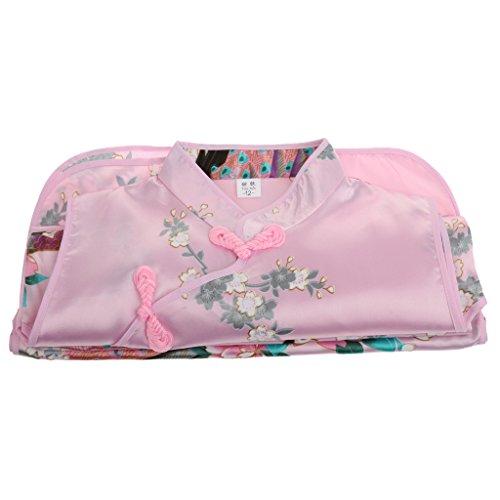 perfk Kleid Mädchen Kinder Kinderkostüm Qipao Cheongsam Geisha Kostüm - Rosa, - Geisha Kleid Kind Kostüm