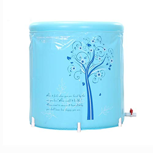 Addensare Vasca da Bagno per Bambini Pieghevole Pieghevole Vasca da Bagno in plastica Facile casa con Pompa a Pedale (Dimensioni : 70 * 70cm)