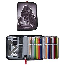 Lego–Estuche escolar/estuche/Pencil Case de Star Wars Darth Vader–Relleno