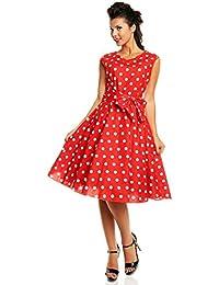 f0454f9a7 Mirando Glam Retro Vintage Audrey Hepburn Estilo Pin Up Vestido en Lunares
