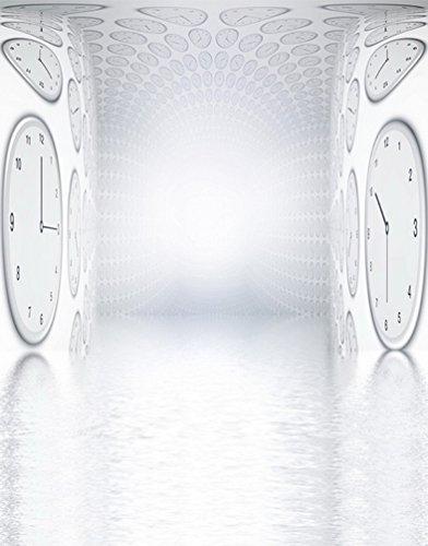 A.Monamour Weißer Hintergrund Uhren Auf Wand 3D Vision Bühne Porträtfotografie Kulissen