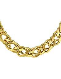 Tuscany Silver Fine Necklace Bracelet Anklet 9 Carats 375/1000 Plaqué Or 51 Centimeters