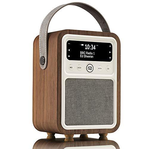 VQ Monty DAB/DAB+ Digital- und FM-Radio mit Bluetooth und Weckfunktion - Walnuss