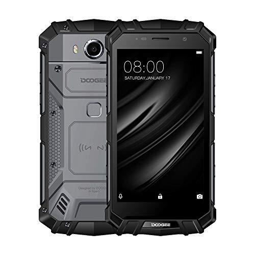 Smartphone ohne Vertrag, DOOGEE S60 Wasserdichte Outdoor Handy - Dual SIM Robustes Smartphones Android 7.0-4G 5.2 Zoll FHD - Helio P25 Octa-core -8.0MP+21.0MP - 5580mAh (Schwarz)