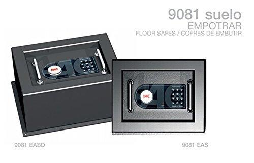 Cassaforte da incasso a pavimento 9081 Asd, 280x350x290 mm, 14 Kg, 16 l, sicurezza FAC