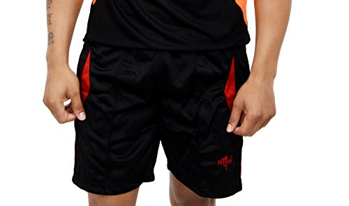 NNN Men's Polyester Sports Shorts ( Black, L)