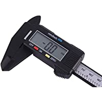 Storagc Vernier Caliper Solar Plastic Caliper Pantalla digital electrónica 0-150 mm / 6 pulgadas y con pantalla LCD extra grande Caliper Measurement Vernier Caliper