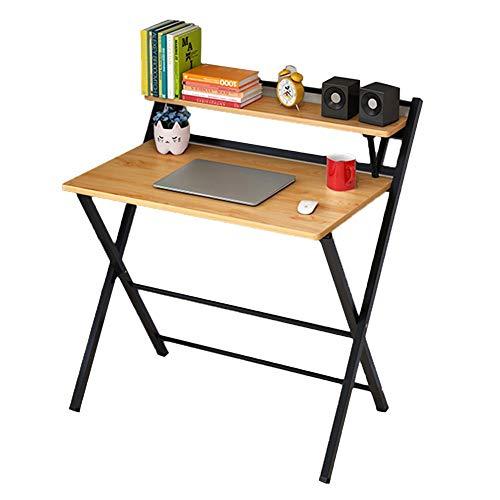 Laptop-Tisch Tragbarer Frühstücks-Bett-Behälter, Faltender Notizbuch-Stand-Imbiss-Schreibtisch - Natürliches Holz - Imbiss-stand