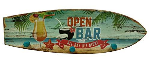 Maritime HHakenleiste Handtuchhaken Surfbrett Open Bar Strand-Design Bad Deko