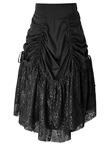 Belle Poque Vintage Falda Cordón Mujer Dobladillo