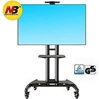 "Soporte móvil de suelo para pantallas LCD, LED (32"" - 65"" negro)"
