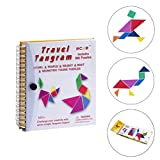 Speed Tangram, Tetris Puzzle Metalldose Legespiel, 7 Magnetische Tangram Spielzeug Bunt Holzpuzzle Geometrisch Formen