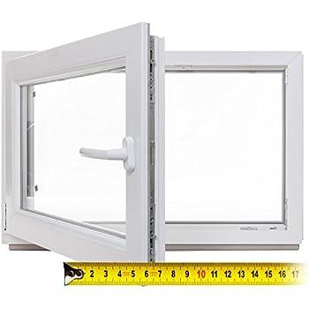 DIN links schneller Versand Kellerfenster Kunststoff Fenster anthrazit verschiedene Ma/ße BxH: 100x70 cm 60mm Profil 3-fach-Verglasung