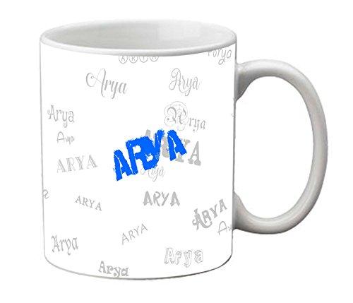meSleep Personalized Graffiti Ceramic Mug for Arya  available at amazon for Rs.249