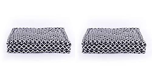 Homevibes Cojín para Silla, Juego de 2 Cojines de 40 x 40 x 9 cm de 100% Algodon para Interior y Exterior...