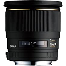 Sigma EX 24/1.8 DG Macro - Objetivo para Nikon (distancia focal fija 20mm, apertura f/1.8, diámetro: 77mm) color negro - Para Nikon D