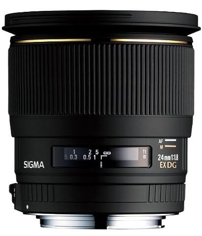 Sigma 24 mm F1,8 EX DG Makro-Objektiv (77 mm Filtergewinde) für Nikon D Objektivbajonett
