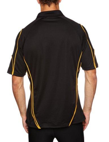 Kooga Rugby Herren Poloshirt Tech Teamwear schwarz / gold