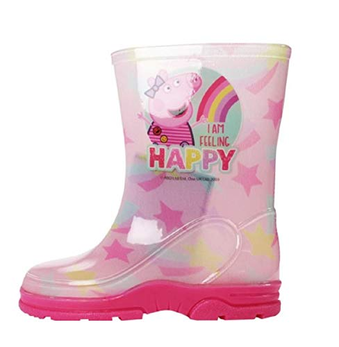 Girls Kids Peppa Wellies Wellington Boots Rain Shoe Official Ankle Length Size UK Infant Child 5 6 7 8 9 10