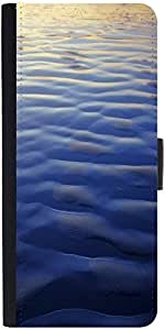 Snoogg Beach Surface Texture Graphic Snap On Hard Back Leather + Pc Flip Cove...
