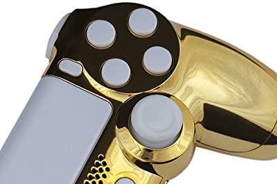 Playstation 4 Custom Controller - Chrome Gold & White