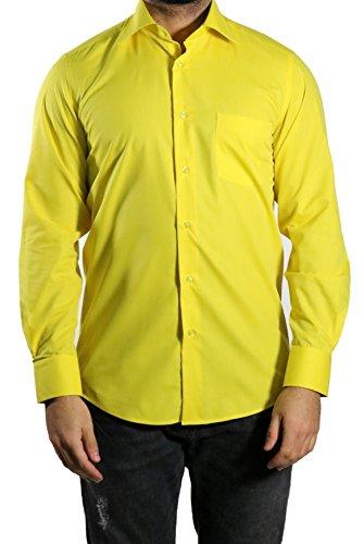 MUGA MMUGA Herrenhemd Extra Langarm Gelb