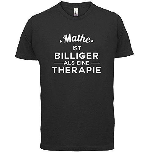 Mathe ist billiger als eine Therapie - Herren T-Shirt - 13 Farben Schwarz