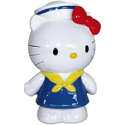 figuras kawaii Sanrio A8053854 Hello Kitty 8,5 cm figura para acuario - azul