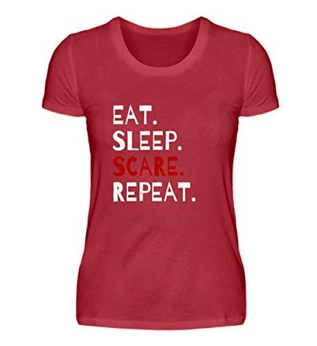 Eat Sleep Scare Repeat - Diabolischer Spaß am Erschrecken und Fürchten zu Halloween - Damen Organic Shirt