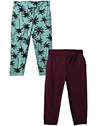 Lil Orchids Girls Pack of 2 Woven Fabric Printed Pant(LO-2PCK-WVEN-PANT-CMB_Multi Color)