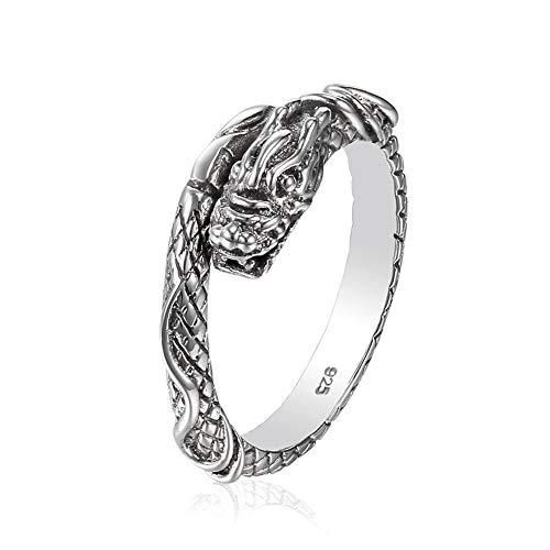 Drago Anello in argento sterling 925 | regolabile dimensione unisex uomini...