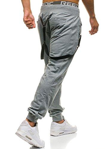 BOLF Herrenhose Baggy Sporthose Trainingshose Jogginghose Fitnesshose Mix 6F6 Grau_7221