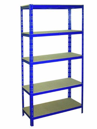 Preisvergleich Produktbild Steckregal Lagerregal Metallregal 180x90x45 cm 5 Böden 175 kg pro Boden belastbar BLAU