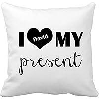 Custom personalizzata copertura del cuscino Love Pillow case per poltrone e sofà Square tela casa decorativo Cuscino Sham 45,7x 45,7cm con cerniera cuscino standard