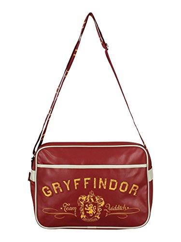 Harry Potter - Schultertasche - Messenger Tasche - Gryffindor Wappen - Logo -