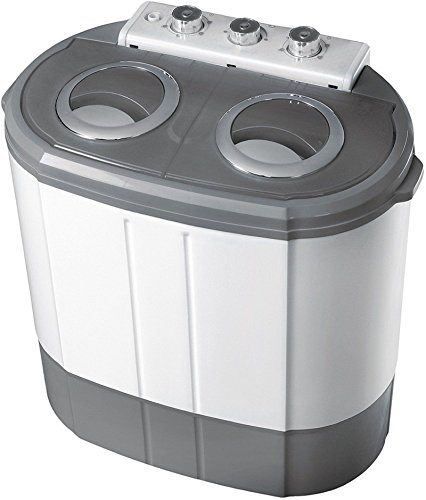 2in1 Mini Waschmaschine | Waschautomat | Camping | Toploader mit Schleuder | 3KG + 1KG