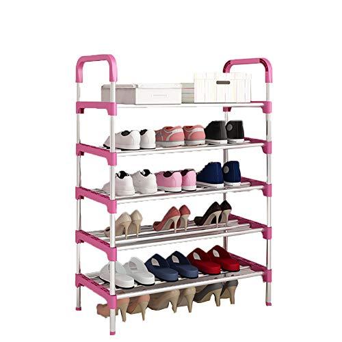 Multi-couche chaussure rack en fer forgé ensemble de crémaillère de chaussures de dortoir simple étagère de rangement de la chambre à coucher rack,60 * 30 * 95cm